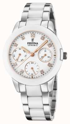 Festina Women's Ceramic | Two-Tone Steel/Ceramic Bracelet | White Dial F20497/1