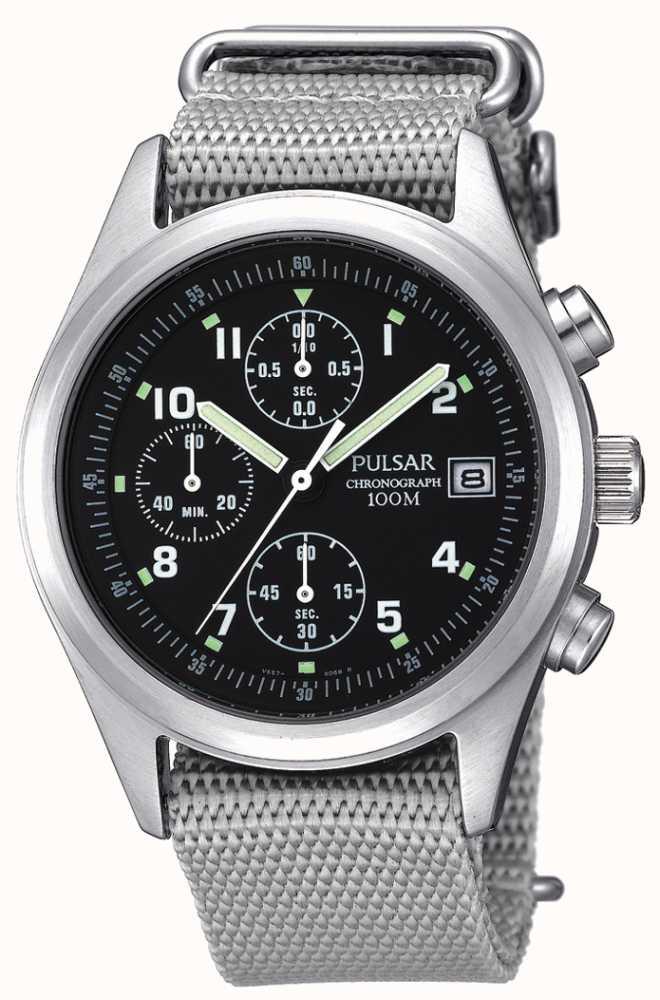 Pulsar Mens Quartz Chronograph Watch Pjn305 First Class Watches Usa