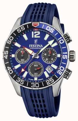 Festina Men's Chronograph | Blue Silicone Strap | Blue Dial F20517/1