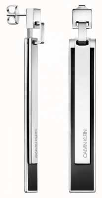 Calvin Klein Empower | Stainless Steel & Black Drop Earrings KJAQME090100