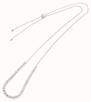 Calvin Klein Tune | Stainless Steel Cube Necklace | Swarovski Crystal Set KJ9MMN040500