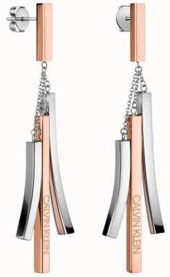 Calvin Klein Tinkle   Two-Tone Stainless Steel Drop Earrings KJCTME200100
