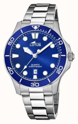 Lotus Men's Stainless Steel Bracelet | Blue Dial L18762/1