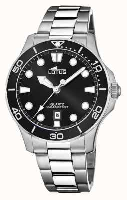 Lotus Men's Stainless Steel Bracelet |Black Dial L18762/2