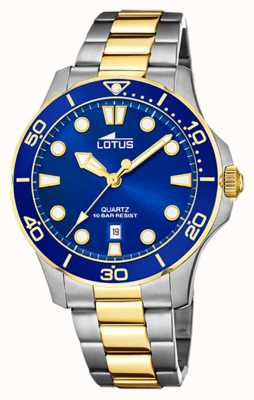 Lotus Women's Two-Tone Steel Bracelet | Blue Dial L18763/1