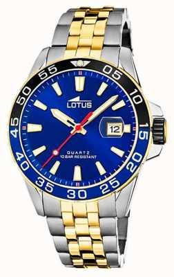 Lotus Men's Two-Tone Steel Bracelet | Blue Dial L18768/1