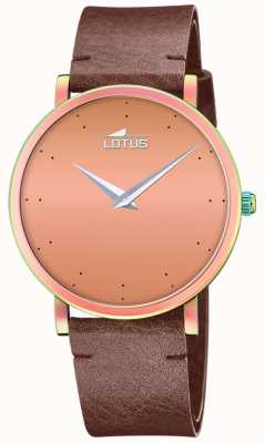 Lotus Women's Brown Leather Strap | Rose Gold Dial L18778/2