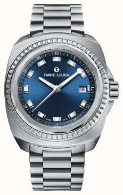 Favre Leuba Raider Sea King | Stainless Steel Bracelet | Blue Dial 00.10107.08.51.20