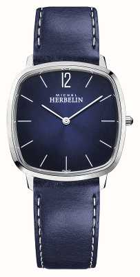 Michel Herbelin City | Men's Blue Leather Strap | Blue Dial 16905/15BL