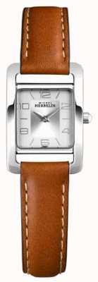 Michel Herbelin V Avenue | Brown Leather Strap | Silver Dial 17437/21GO