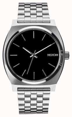 Nixon Time Teller | Black | Stainless Steel Bracelet | Black Dial A045-000-00