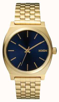 Nixon Time Teller | All Light Gold / Cobalt | Gold IP Bracelet | Blue Dial A045-1931-00