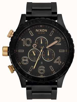 Nixon 51-30 Chrono   Matte Black / Gold   Black IP Bracelet   Black Dial A083-1041-00