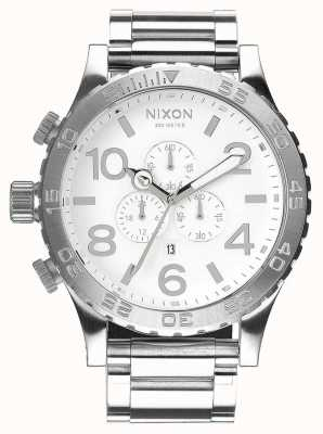 Nixon 51-30 Chrono | High Polish / White | Stainless Steel Bracelet | White Dial A083-488-00