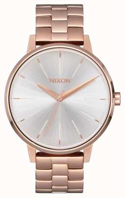 Nixon Kensington | Rose Gold / White | Ross Gold IP Bracelet | Silver Dial A099-1045-00
