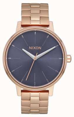 Nixon Kensington | Rose Gold / Storm | Rose Gold IP Bracelet | Blue Dial A099-3005-00