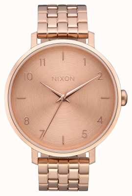 Nixon Arrow | All Rose Gold | Rose Gold IP Steel Bracelet | Rose Gold Dial A1090-897-00