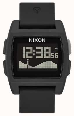 Nixon Base Tide | All Black | Digital | Black Silicone Strap | A1104-001-00