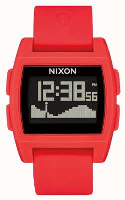 Nixon Base Tide | Red | Digital | Red silicone Strap A1104-200-00