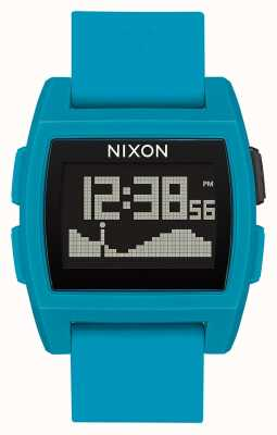 Nixon Base Tide | Blue Resin | Digital | Blue Silicone Strap A1104-2556-00