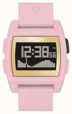 Nixon Base Tide  | Soft Pink / Gold / LH | Digital | Pink Silicone Strap A1104-2773-00