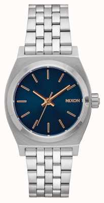 Nixon Medium Time Teller | Navy / Rose Gold | Stainless Steel Bracelet | Navy Dial A1130-2195-00
