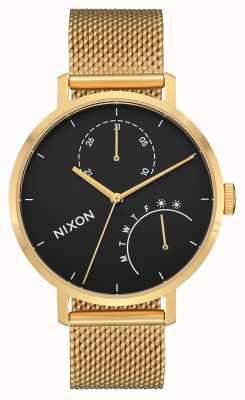 Nixon Clutch | Gold / Black | Gold IP Steel Mesh | Black Dial A1166-513-00