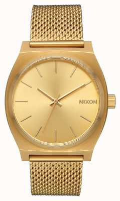 Nixon Time Teller Milanese | All Gold | Gold IP Steel Mesh | Gold Dial A1187-502-00