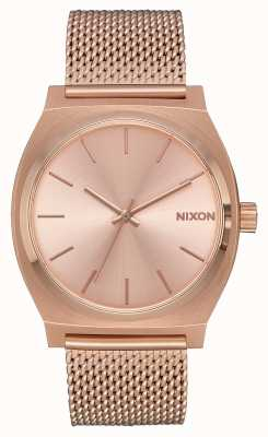 Nixon Time Teller Milanese | All Rose Gold | Rose Gold IP Mesh | Rose Gold Dial A1187-897-00