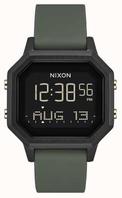Nixon Siren SS | Black / Fatigue | Digital | Black Silicone | A1211-178-00