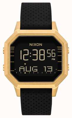 Nixon Siren SS | Gold / Black LH | Digital | Black Silicone Strap A1211-2970-00