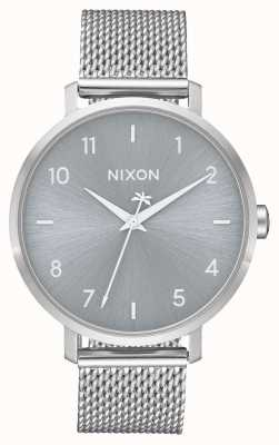 Nixon Arrow Milanese | All Silver | Stainless Steel Mesh | Silver Dial A1238-1920-00