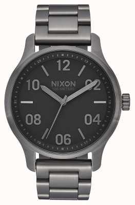 Nixon Patrol | Gunmetal / Black | Gunmetal IP Steel Bracelet | Gunmetal Dial A1242-1531-00