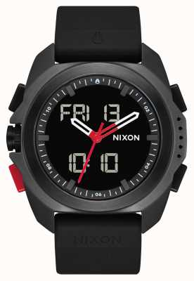 Nixon Ripley | Black / Red / RECCO | Digital | Black TPU Strap | A1267-3251-00