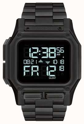 Nixon Regulus SS | All Black | Digital | Black IP Steel Bracelet A1268-001-00