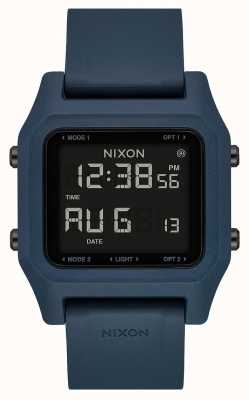Nixon Staple | Dark Slate | Digital | Slate coloured Silicone Strap A1309-2889-00