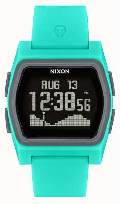 Nixon Rival   Turquoise   Digital   Turquoise Silicone Strap A1236-309-00