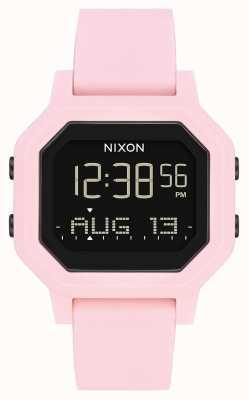 Nixon Siren | Pale Pink | Digital | Pink Silicone Strap A1311-3154-00