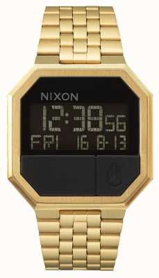 Nixon Re-Run | All Gold | Digital | Gold IP Steel Bracelet A158-502-00