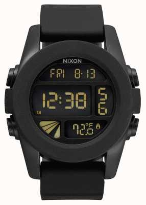 Nixon Unit | Black | Digital | Black Silicone Strap | A197-000-00