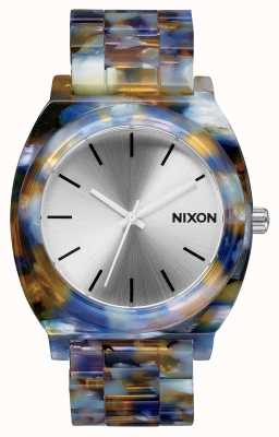 Nixon Time Teller Acetate | Watercolour Acetate | Silver Dial A327-1116-00