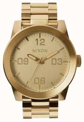 Nixon Corporal SS | All Gold | Gold IP Steel Bracelet | Gold Dial A346-502-00