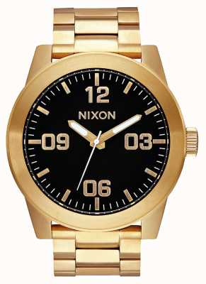 Nixon Corporal SS | All Gold / Black | Gold IP Steel Bracelet | Black Dial A346-510-00