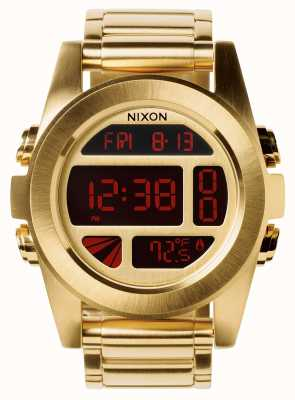 Nixon Unit SS | All Gold | Digital | Gold IP Steel Bracelet | A360-502-00