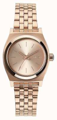 Nixon Small Time Teller | All Rose Gold | Rose Gold IP Steel Bracelet | Rose Gold Dial A399-897-00