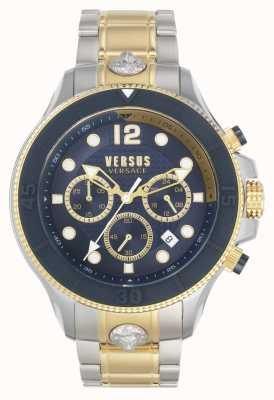 Versus Versace Men's Volta Versus | Two-Tone Steel Bracelet | Blue Dial VSPVV0520