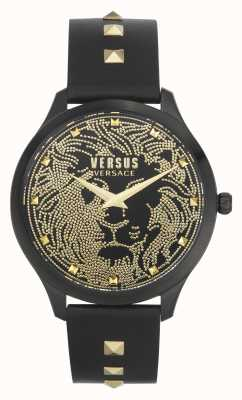 Versus Versace | Women's | Domus | Black Leather Strap | Black Dial | VSPVQ0520