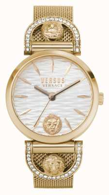 Versus Versace Women's Iseo | Rose Gold Mesh Bracelet | White Dial VSPVP0720