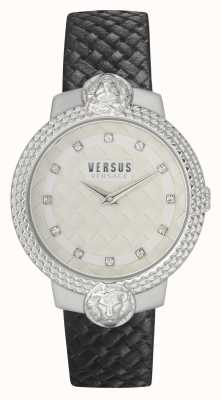 Versus Versace | Women's | Mouffetard | Black Leather Strap | White Dial | VSPLK1120