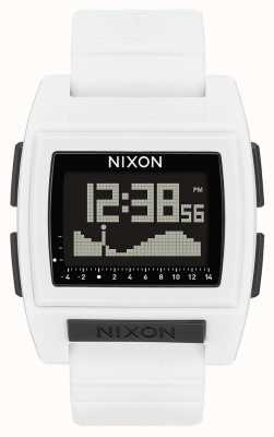 Nixon Base Tide Pro | White | Digital | White silicone strap A1212-100-00